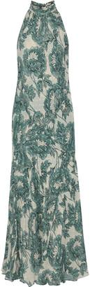 Diane von Furstenberg Leeann Floral-print Metallic Fil Coupe Georgette Gown
