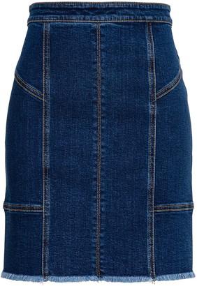 Alexander McQueen Panelled Mini Denim Skirt