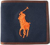 Polo Ralph Lauren Men's Big Pony Bi-Fold Leather And Canvas Wallet