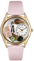 Whimsical Watches Kids' C0420004 Classic Gold Teen Girl Pink Leather And Goldtone Watch