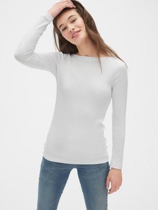 Gap Modern Long Sleeve Boatneck T-Shirt