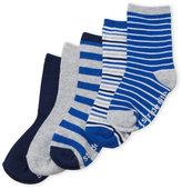 Stride Rite Toddler Boys) 5-Pack Non-Skid Crew Socks