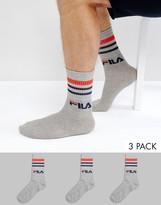 Fila Vintage Sports Socks In Gray