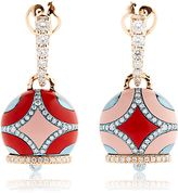Chantecler Maiolica Rose Gold & Coral Earrings