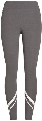 Tory Burch MElange Chevron Side-Pocket Leggings