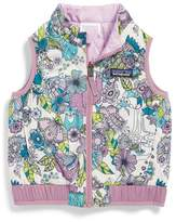 Patagonia Toddler Girl's 'Puff-Ball' Water Resistant Reversible Vest