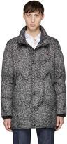 Moncler Gamme Bleu Black and Grey Down Speckled Jacket