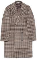 Boglioli Virgin wool blend houndstooth coat