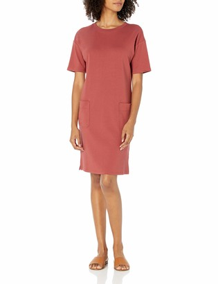 Daily Ritual Pima Cotton and Modal Interlock Patch-Pocket T-Shirt Dress