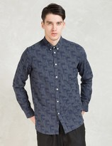 A Question Of Navy Graph L/S Shirt