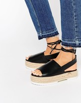 Asos TOPICAL Flatform Tie Leg Sandals