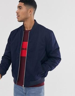 Calvin Klein Jeans Calvin Klein nylon bomber jacket-Blue