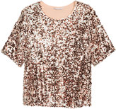 H&M H&M+ Sequined Top - Rose gold-colored - Ladies