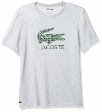 Lacoste Men's Sport Short Sleeve Graphic Logo Techinical Jersey T-Shirt