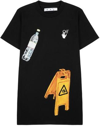 Off-White Pascal Medicine black printed cotton T-shirt