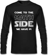 KAOMAOXI Fun Tee Funny Joke Algebra Teachers Mens Crewneck Long-sleeved Tee