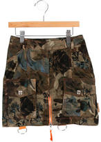 Christian Dior Girls' Camouflage Cargo Skirt
