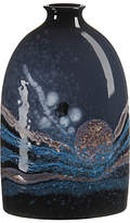 Poole Pottery Celestial Medium Oval Bottle Vase, H23cm, Grey/ Blue