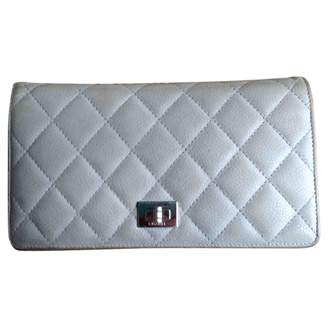 Chanel 2.55 Grey Leather Wallets