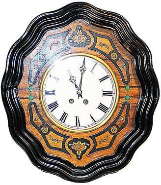 One Kings Lane Vintage Antique French Baker's Clock - House of Charm Antiques
