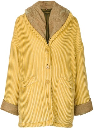 Romeo Gigli Pre Owned Oversize Textured Coat