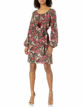 For Love and Liberty Women's Printed Silk Dress