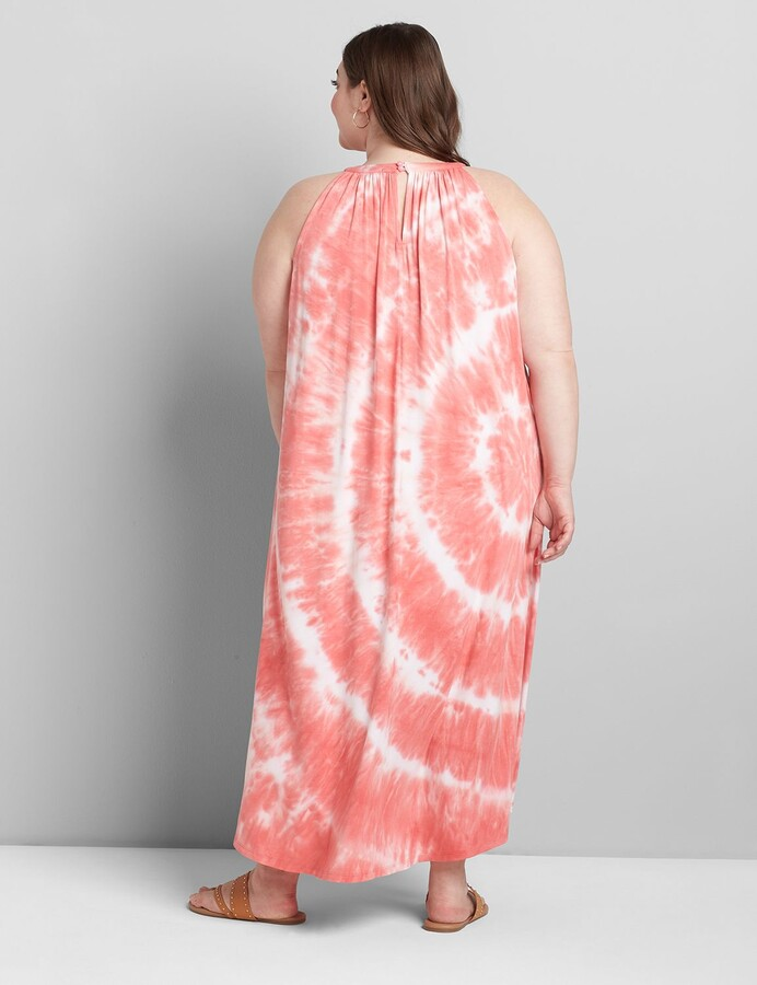 Thumbnail for your product : Lane Bryant Tie-Dye Halter High-Low Dress
