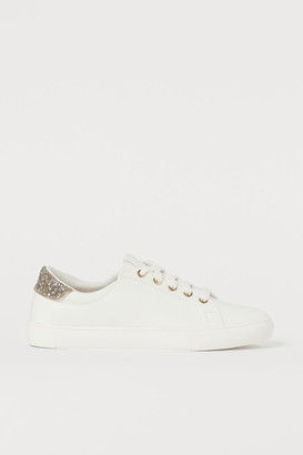 H&M Glittery Sneakers - White