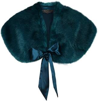 Dorothy Perkins Womens **Showcase Forest Faux Fur Bow Shrug