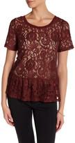 Joe Fresh Lace Peplum Shirt