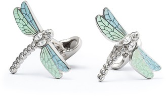 Mon Art Enamel and Brass Men's Dragonfly Cufflinks