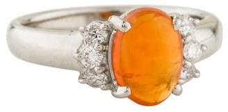 Ring Platinum Opal & Diamond
