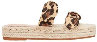 Loeffler Randall Daisy Two Bow Cotton Espadrille Platform Sandals