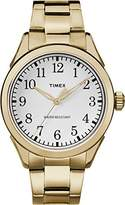 Timex Unisex Quartz Watch with Silver Dial Analogue Display and Gold Stainless Steel Bracelet TW2R10000