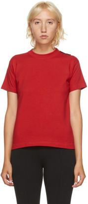 Balenciaga Red Logo Tab T-Shirt
