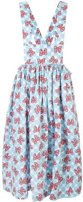 COMME DES GARÇONS GIRL Bow Print Pinafore Dress