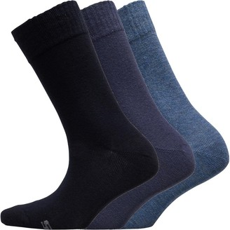 Skechers Sport SKECHERS Womens Three Pack Basic Crew Socks Denim Melange