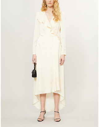 Designers Remix Lauren wrap-over woven maxi dress