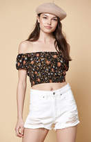 KENDALL + KYLIE Kendall & Kylie Cinched Waist Off-The-Shoulder Top