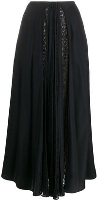 Stella McCartney Lace-Panel Maxi Skirt