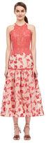 Rebecca Taylor Floral Jacquard Midi Dress