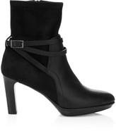 Aquatalia Ryann Ankle-Strap Suede & Leather Boots