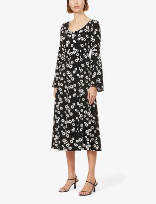 Kitri Elly floral-print woven midi dress