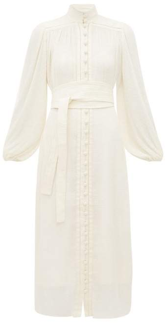 Zimmermann Espionage Fil Coupe Plisse Dress - Womens - White