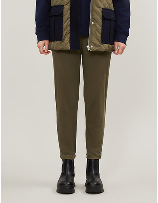 James Perse Tapered cotton-jersey jogging bottoms