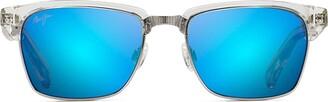 Maui Jim Sunglasses | Kawika B257-05CR20 | Crystal Fashion Frame Frame Polarized Blue Hawaii Lenses with Patented PolarizedPlus2 Lens Technology