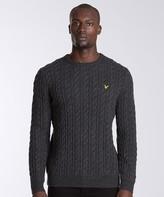 Lyle & Scott Crewneck Cable Knit Sweatshirt
