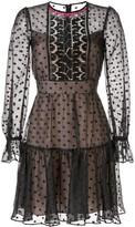 Temperley London polka dot short dress