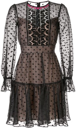 Temperley London Polka Dot Short Dress