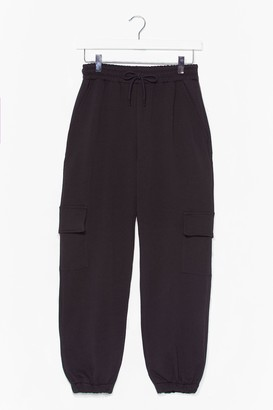 Nasty Gal Womens Pocket Ready to Launch Cargo Jogger trousers - Black - XL, Black